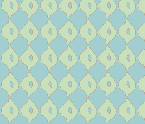 doodle dot (deep aqua, sea glass green & deep stone) fabric by pattyryboltdesigns on Spoonflower - custom fabric