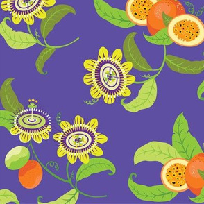 Flowering Passionfruit/Rich Purple