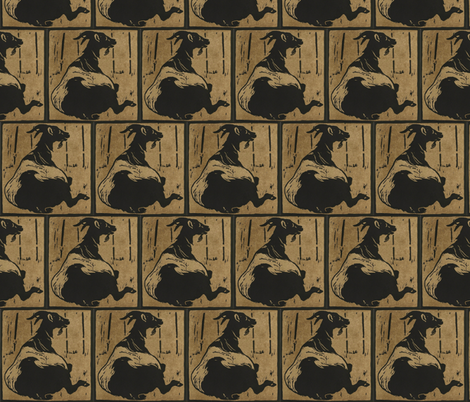 Goat fabric by zephyrus_books on Spoonflower - custom fabric