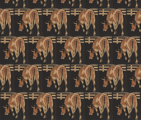 Cow fabric by zephyrus_books on Spoonflower - custom fabric
