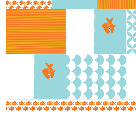 Goldfish Goodie Bags fabric by jenimp on Spoonflower - custom fabric