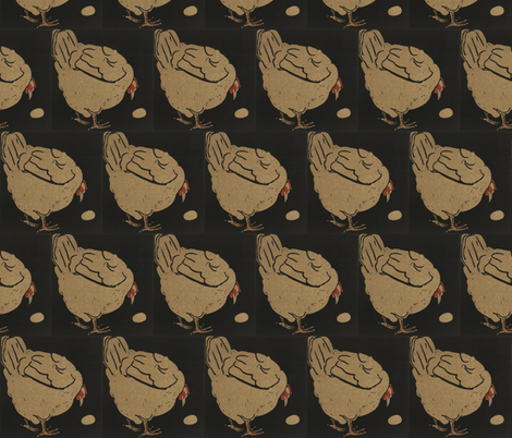 Hen fabric by zephyrus_books on Spoonflower - custom fabric