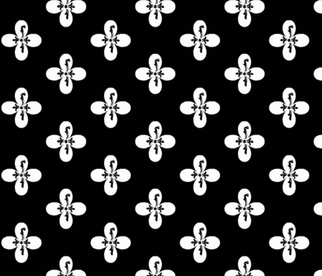 classicdesign black white flower reverse by evandecraats march 28, 2012 fabric by _vandecraats on Spoonflower - custom fabric