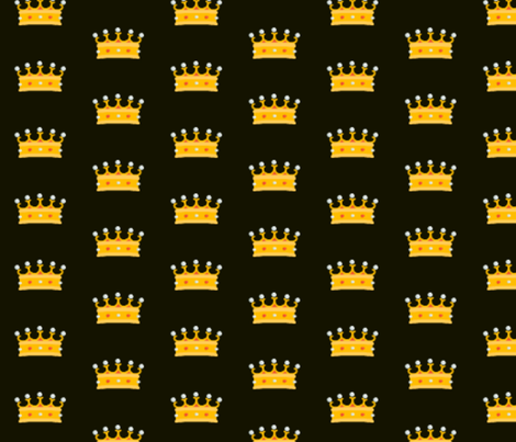 Prince and Princess Beauty black 2 by evandecraats march 28, 2012 fabric by _vandecraats on Spoonflower - custom fabric