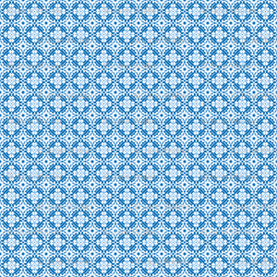 Mini Upholstery Medallion print fabric Blue ©2012 by Jane Walker