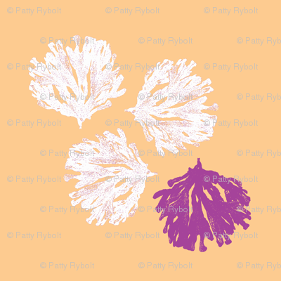 Sea weed (electric plum, light orange & white)