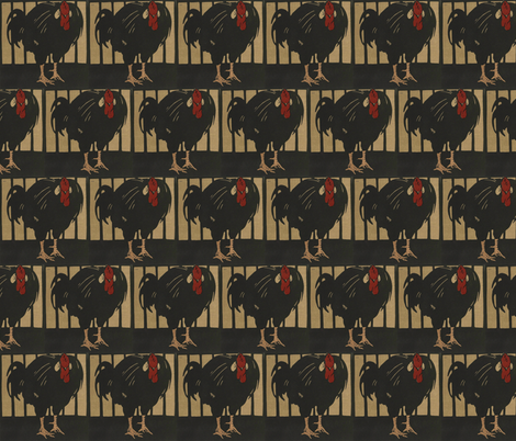Rooster fabric by zephyrus_books on Spoonflower - custom fabric