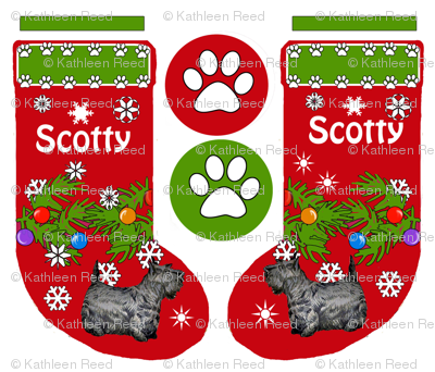 Christmas stocking Scotty Terrier