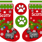Christmas stocking Scotty Terrier
