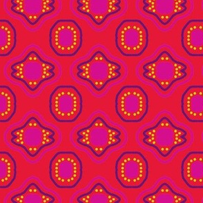 Red Purple Pink Mosaic