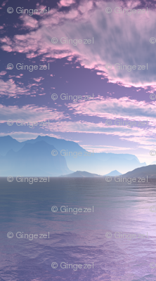 Sci Fi Landscape Crescent Bay Small © Gingezel™ 2012