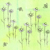 Chamomile Bees