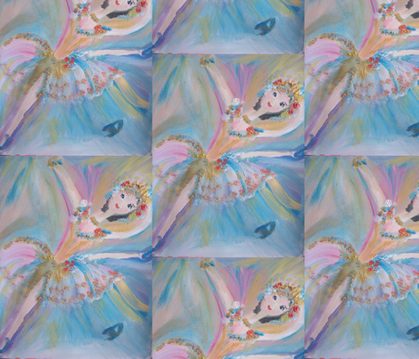 Blue Ballet fabric by myartself on Spoonflower - custom fabric