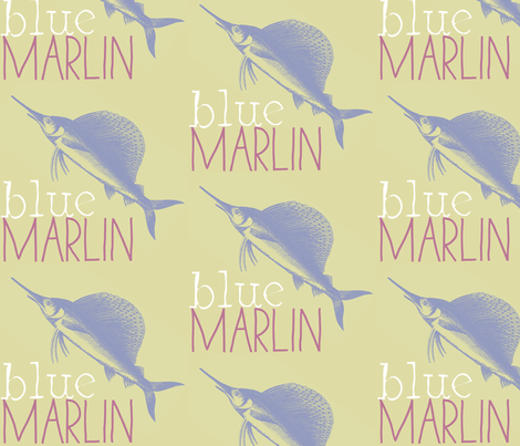 Blue Marlin! fabric by pattyryboltdesigns on Spoonflower - custom fabric