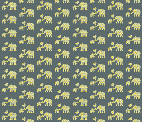 Elephant Hugs fabric by elephant_trunk_studio on Spoonflower - custom fabric