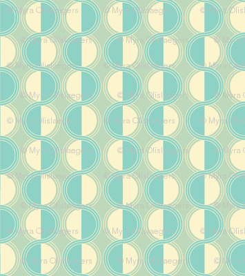circles retro blue