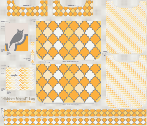 """Hidden Friend"" Bag - sunshine fabric by natasha_k_ on Spoonflower - custom fabric"