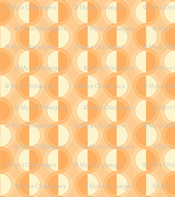 circles retro orange