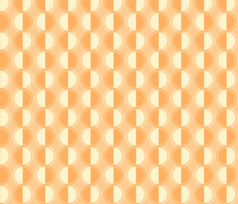 circles retro orange fabric by myracle on Spoonflower - custom fabric