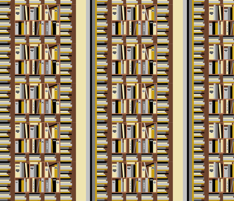 bookshelf fabric by kaynoh on Spoonflower - custom fabric