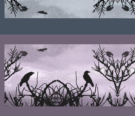 Crow_Sky_2012_fabric fabric by rubyrice on Spoonflower - custom fabric