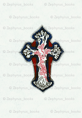 Inticate, Colorful, Repeating Cross / Crucifix Design