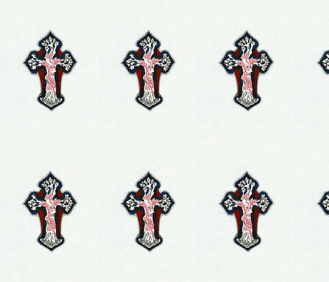 Inticate, Colorful, Repeating Cross / Crucifix Design fabric by zephyrus_books on Spoonflower - custom fabric