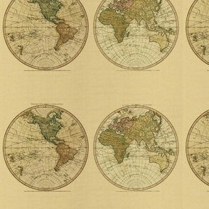 1786 World Map by William Faden