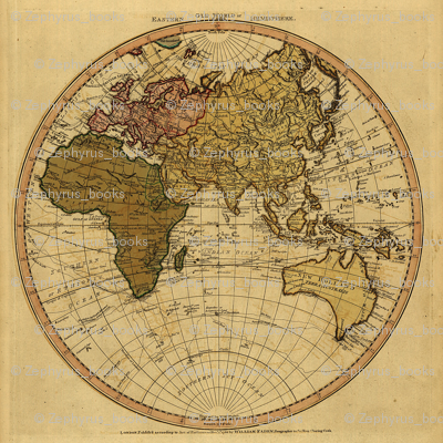 1786 Eastern Hemisphere Map by William Faden