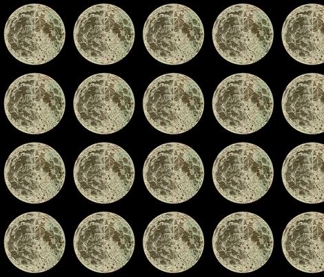 Astronomy Moon Print fabric by zephyrus_books on Spoonflower - custom fabric