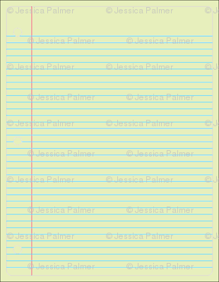 single sheet notebook paper yellow