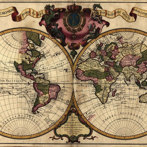 1720 World Map by Delisle