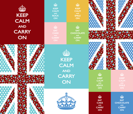 keep calm swatches fabric by minimiel on Spoonflower - custom fabric