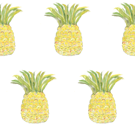 Pineapple Rainbow fabric by seworegon on Spoonflower - custom fabric