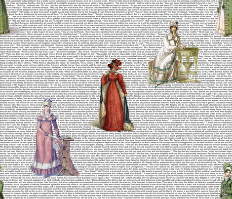 Pride & Prejudice (21 x18) fabric by studiofibonacci on Spoonflower - custom fabric