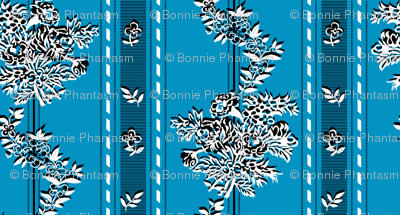 "Phantom ""Wishing gown"" fabric - blue checkered / iridescent background"