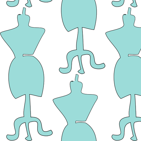 dressform2blue fabric by designsbychelsee on Spoonflower - custom fabric