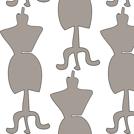 dressform2gray fabric by designsbychelsee on Spoonflower - custom fabric