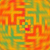 Pillow Spiral - Tangerine (Checker Graph)
