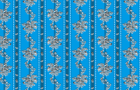 "Phantom ""Wishing gown"" fabric - plain blue background"