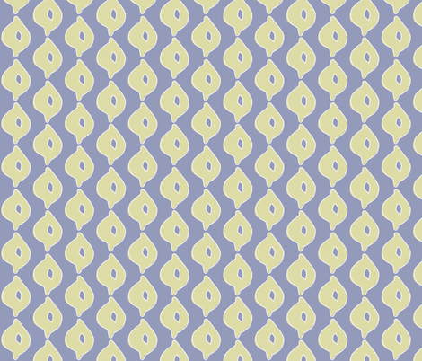 Doodle Dot (white, yellow/green & deep blue) fabric by pattyryboltdesigns on Spoonflower - custom fabric