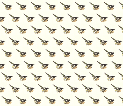The Magpie - Bird / Birds fabric by zephyrus_books on Spoonflower - custom fabric