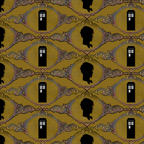 dr_who_makes_a_cameo_resized fabric by vo_aka_virginiao on Spoonflower - custom fabric