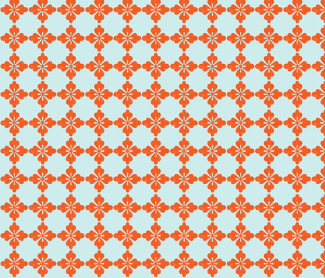 Rockette - Coral fabric by leahvanlutz on Spoonflower - custom fabric