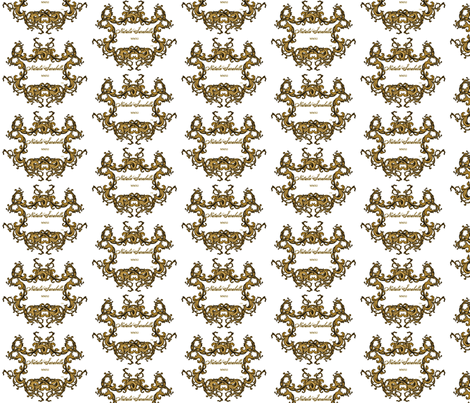 Golden Crest fabric by sarabella on Spoonflower - custom fabric