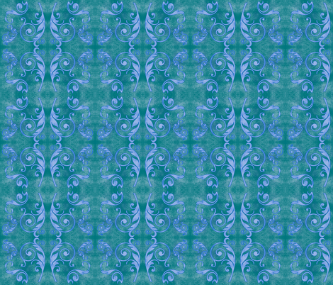 Lady Grunge - Teal/Periwinkle fabric by leahvanlutz on Spoonflower - custom fabric