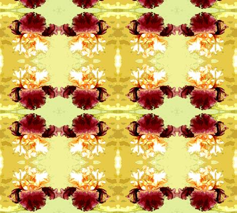 bearded iris watercolor fabric by waterglider on Spoonflower - custom fabric