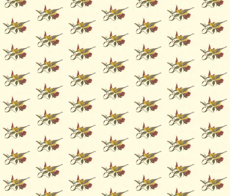 The Blue-winged Warbler - Bird / Birds fabric by zephyrus_books on Spoonflower - custom fabric