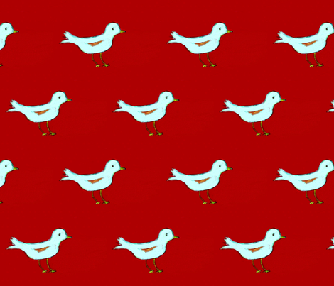 White Bird II fabric by seworegon on Spoonflower - custom fabric
