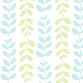 Olive Branches (lt. lime, lt. aqua &amp; white)
